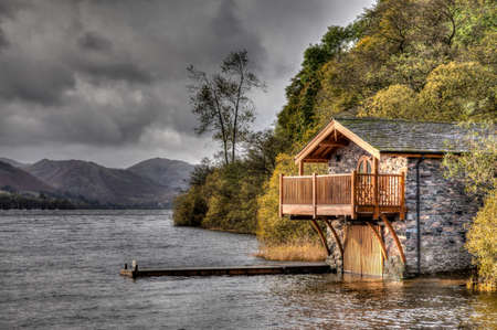 boat house: Boat House, Ulswater, Lake District, Cumbria, Inglaterra