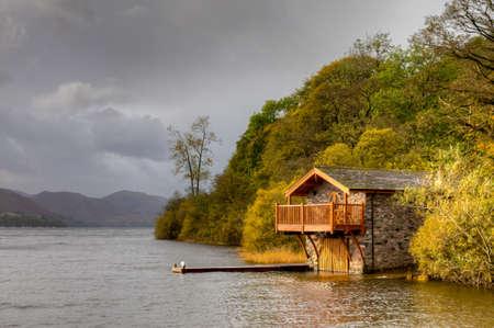 cumbria: Boat House, Ulswater, Lake District, Cumbria, England Editorial
