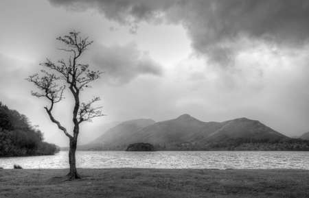 Derwent Water in Autumn, Lake District, England photo
