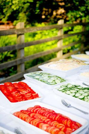 Al fresco food buffet Reklamní fotografie