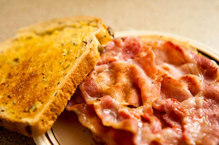 Bacon toasted sandwich