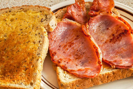 toasted sandwich: Bacon toasted sandwich