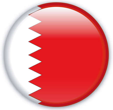 Bahrain: Button with flag from Bahrain - Vector Format