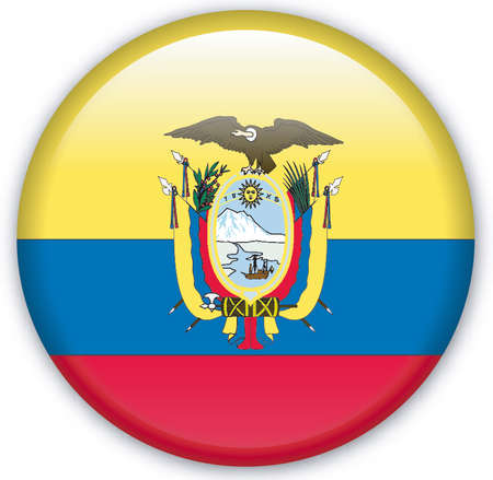 ecuador: Knop met vlag uit Ecuador - Vector formaat