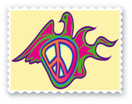 peace stamp: Stamp with a peace deaf - Vector Format