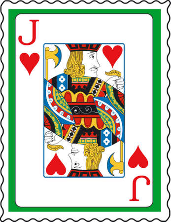jack hearts: Stamp with Jack of hearts
