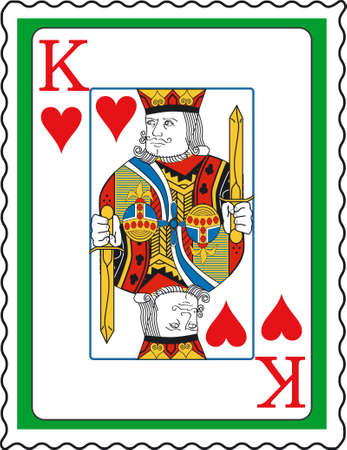 king of hearts: Stamp with King of hearts