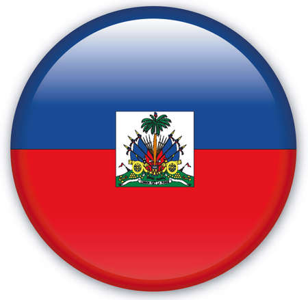 haiti: Button with Flag from Haiti - Vector Format Illustration