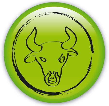 ecliptic: Button with Zodiac-Bull