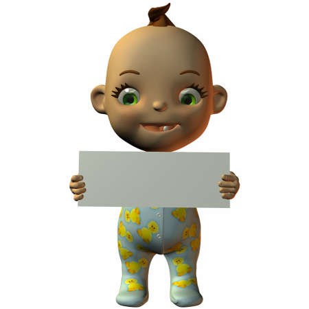 poser: Toon Baby with Sign