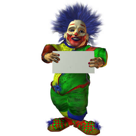 Clown with Sign photo