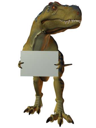tyrannosaurus: T-Rex with Sign
