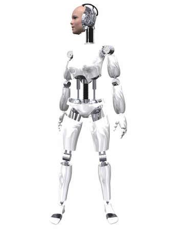 Robot Femme Banque d'images