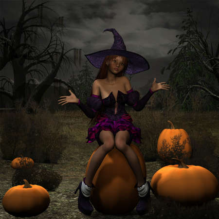Pumpkin Witch photo