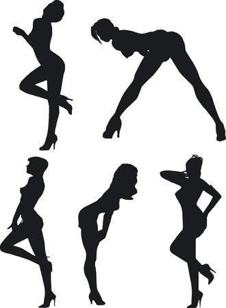Sexy Silouettes - Vector Format Archivio Fotografico - 2017458