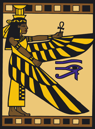 Illustration Vector of Egyptian Silouette Stock fotó - 2226748