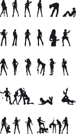 Sexy Silouettes - Vector Format