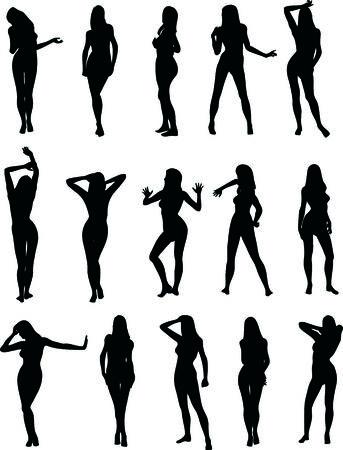 Illustration de silhouettes sexy femme Vecteurs