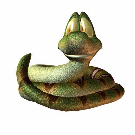 Eine Schlange Toonimal - 3 D Render  Standard-Bild - 2650525
