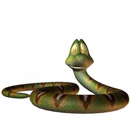 Ein Toonimal Snake - 3 D Render Standard-Bild - 2650523