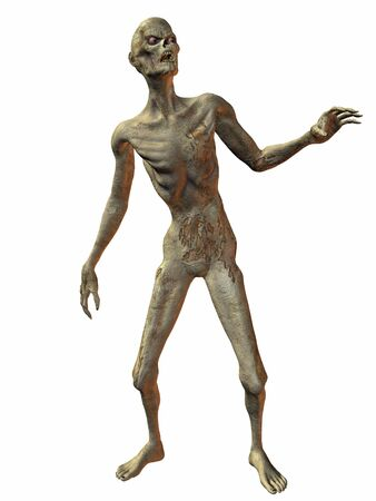 reanimated: 3 D Render of an Zombie