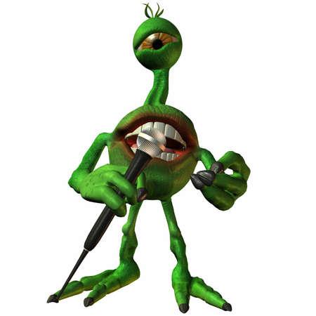 Toon Alien Sammy Stock Photo