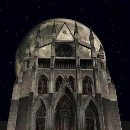 dark ages: 3D Render of an Fantasy Castle