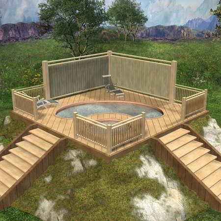hot tub: 3D Render of an Hot Tub
