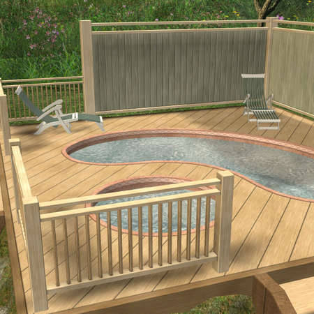 therapeutic: 3D Render of an Hot Tub