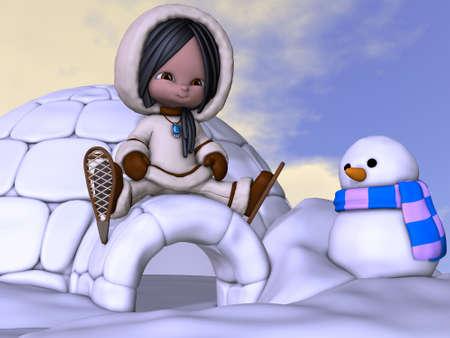 eskimo: 3D Render of an Toon Eskimo