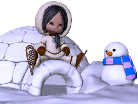 3D Render of an Toon Eskimo photo
