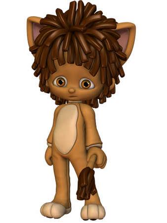 3d lion: Leo the little Lion