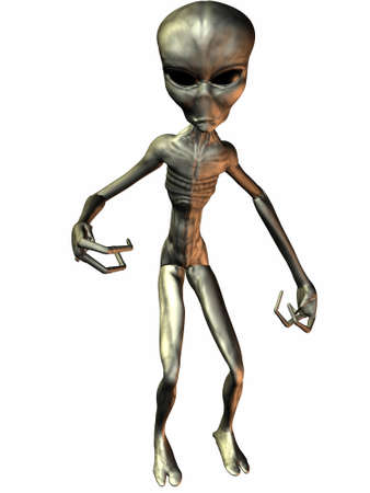 startrek: 3D Render of an Alien Stock Photo