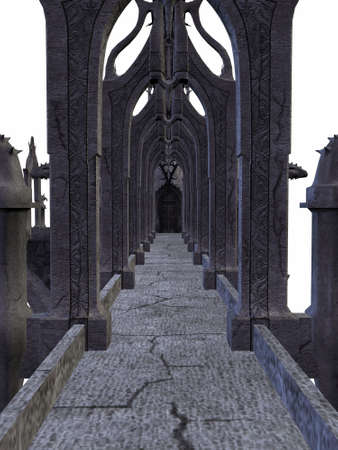 stone age: 3D Render of an Fantasy Castle
