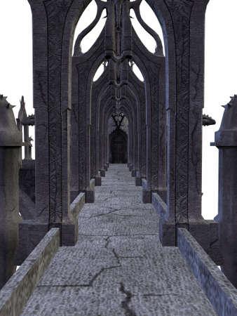 edad de piedra: Renderizado 3D de un Castillo de Fantas�a