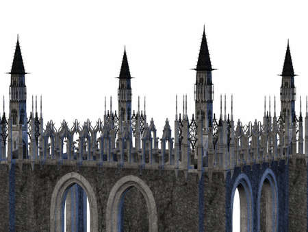 3D Render of an Fantasy Castle