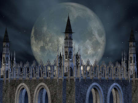 stonework: 3D Render of an Fantasy Castle