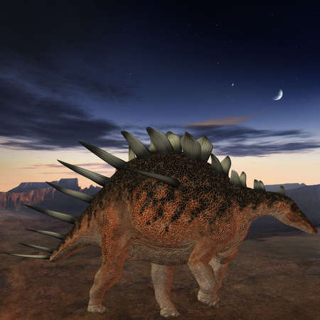 monstrous: 3D Render of an Kentrosaurus-3D Dinosaur