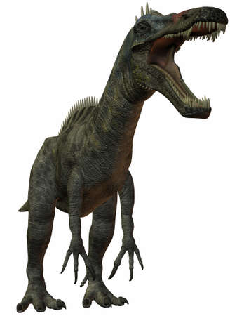 caudal: 3D Render of an Suchomimus Tenerensis-3D Dinosaur