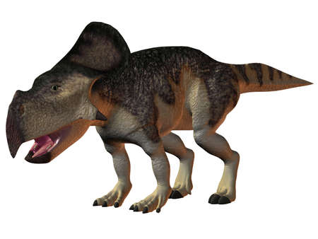 monstrous: 3D Render of an Protoceratops-3D Dinosaur