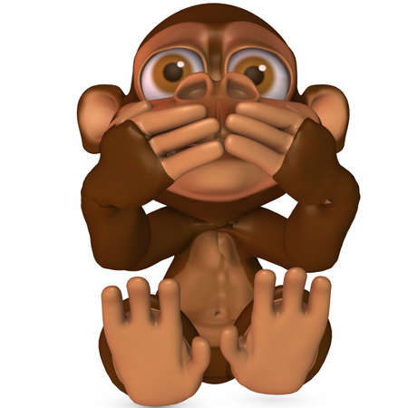 3D Render of an Toon Ape photo