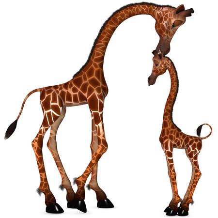 3D-Render eines Toon Giraffe