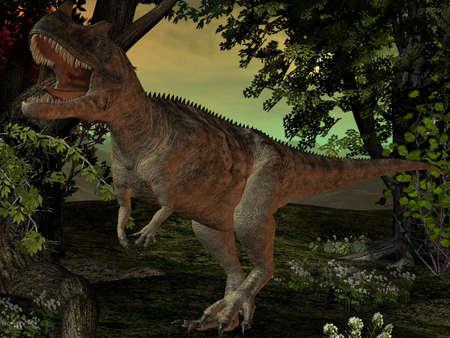 caudal: Ceratosaurus nasicornis-3D Dinosaur