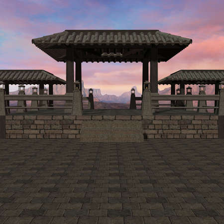 3D Render of an Chinese Place photo