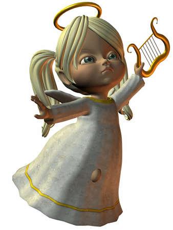cherub: 3D Render of an Cherub