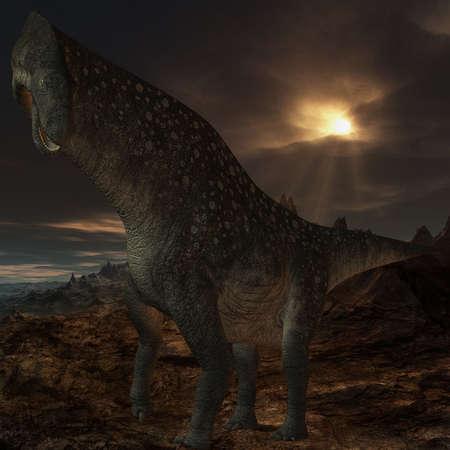 caudal: 3D Render of an Titanosaurus colberti-3D Dinosaur