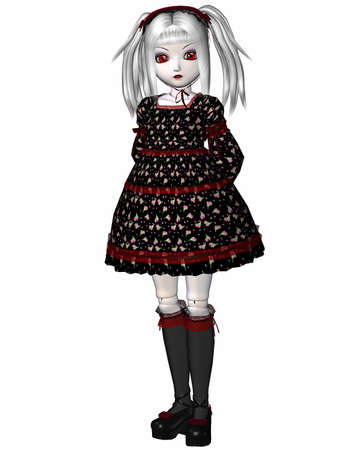 relic: 3D Render of an Gothic Doll Stock Photo