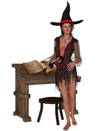 3D Render of an Beauty Witch