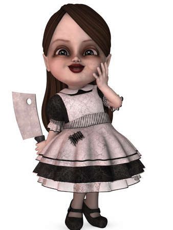 nightmare: 3D Render of an Nightmare Girl