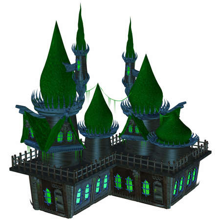 3D Render of an Toon Ghosthouse Stock Photo - 3587499